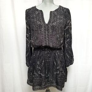 Joie Paisley Boho Silk Mini Dress XS